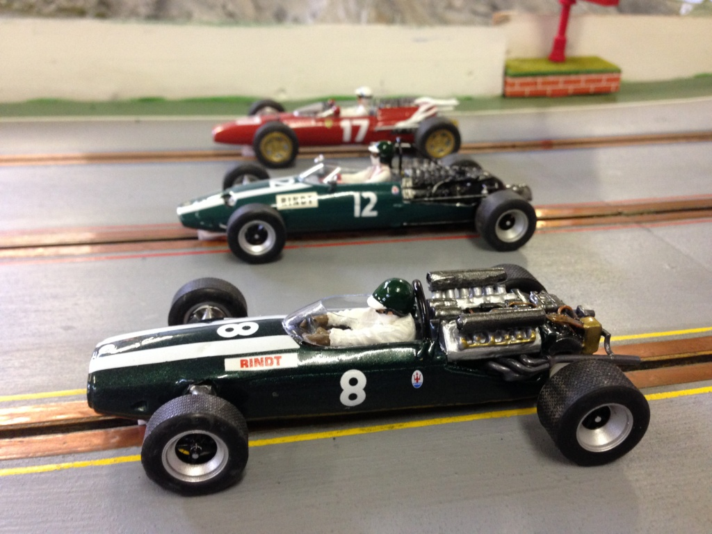 Another view also showing the 1966 ferrari 312 and standard nose cooper maserati t81 both from mel ault s pre wing kits