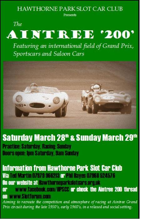 Hawthorne slot car club