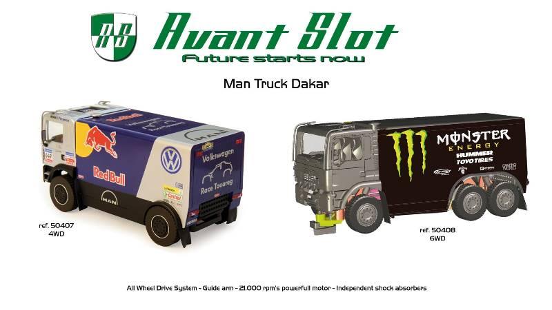 Avant Slot Camion Dakar dont le 6 roues motrices