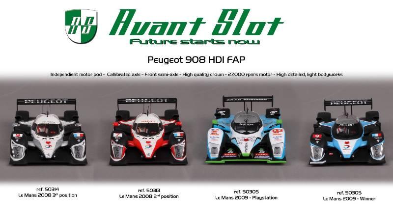 Avant Slot la collection Peugeot 908 HDI FAP