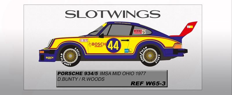 Porsche 934/5 - Mid Ohio IMSA 1977 Bunty/Woods Ref: SLW065-03