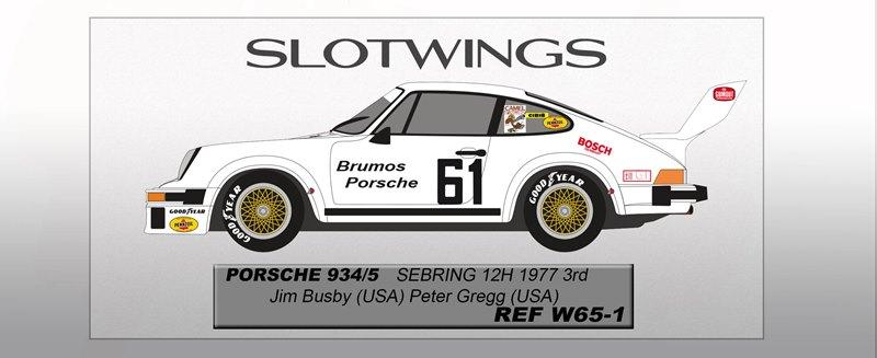 Porsche 934/5 - Sebring 12hrs 1977 Busby/Gregg Ref: SLW065-01