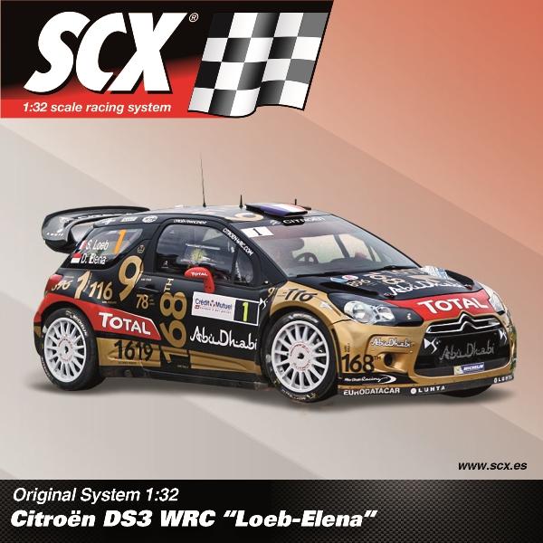 "SCX Citroen DS3 WRC  ""Loeb-Elena"" Rally Du France 2013 Ref; A10209"