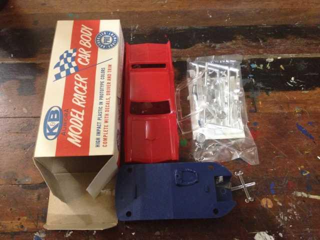 K&B Aurora Pontiac GTO Body kit - RED - 1:32 - Slotcar Parts