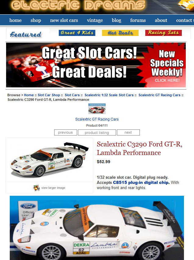 Scalextric Ford GT with DPR - 1:32 scale Cars - SlotForum